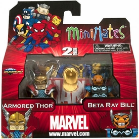 Marvel Minimates Series 42 Mini Figure 2-Pack Armored Thor & Beta Ray Bill