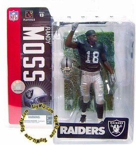 McFarlane Toys NFL Sports Picks Series 13 Action Figure Randy Moss (Oakland Raiders) Black Jersey