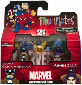 Marvel Minimates Series 42 Mini Figure 2-Pack Civil War Captain America & Arnim Zola BLOWOUT SALE!