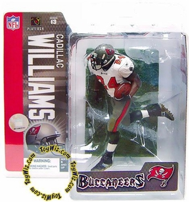 McFarlane Toys NFL Sports Picks Series 13 Action Figure Cadillac Williams (Tampa Bay Buccaneers) White Jersey BLOWOUT SALE!