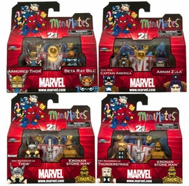Marvel Minimates Series 42 Set of 4 Mini Figure 2-Packs [Includes Eric Masterson as Thor Variant]