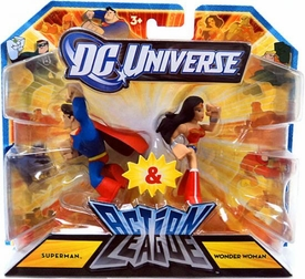 DC Universe Action League Mini Figure 2-Pack Superman & Wonder Woman