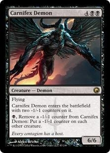Magic the Gathering Scars of Mirrodin Single Card Rare #57 Carnifex Demon