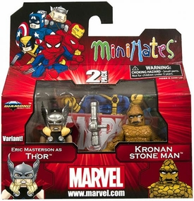 Marvel Minimates Series 42 Mini Figure 2-Pack Thor & Kronan Stone Man [Variant]