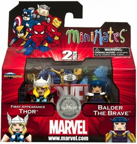 Marvel Minimates Series 42 Exclusive Mini Figure 2-Pack First Appearance Thor & Balder the Brave