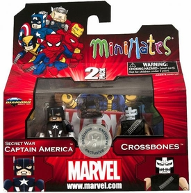 Marvel Minimates Series 42 Exclusive Mini Figure 2-Pack Secret Wars Captain America & Crossbones