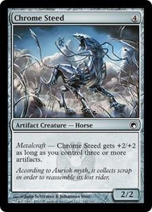 Magic the Gathering Scars of Mirrodin Single Card Common #142 Chrome Steed