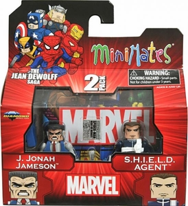 Marvel MiniMates Series 43 Mini Figure 2-Pack J. Jonah Jameson & SHIELD Agent