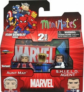 Marvel MiniMates Series 43 Mini Figure 2-Pack Aunt May & SHIELD Agent [Variant]