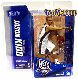 McFarlane Toys NBA Sports Picks Series 8 Action Figure Jason Kidd (New Jersey Nets) White Jersey