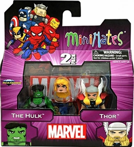 Marvel MiniMates Series 44 Mini Figure 2-Pack Hulk & Thor
