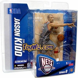 McFarlane Toys NBA Sports Picks Series 8 Action Figure Jason Kidd 2 (New Jersey Nets) Gray Jersey Variant