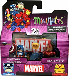 Marvel MiniMates Series 44 Mini Figure 2-Pack Captain America & Iron Man