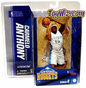 McFarlane Toys NBA Sports Picks Series 8 Action Figure Carmelo Anthony (Denver Nuggets) White Jersey