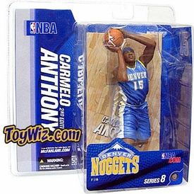 McFarlane Toys NBA Sports Picks Series 8 Action Figure Carmelo Anthony (Denver Nuggets) Light Blue Jersey Variant