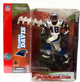 McFarlane Toys NFL Sports Picks Series 6 Action Figure Stephen Davis (Carolina Panthers) White Jersey Variant