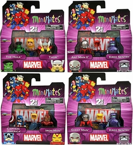 Marvel MiniMates Series 44 Set of 4 Mini Figure 2-Packs [Includes Variant]