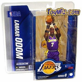 McFarlane Toys NBA Sports Picks Series 8 Action Figure Lamar Odom (Los Angeles Lakers) Purple Jersey