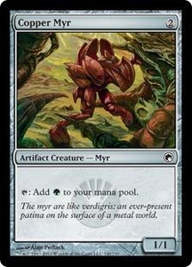Magic the Gathering Scars of Mirrodin Single Card Common #146 Copper Myr