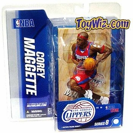 McFarlane Toys NBA Sports Picks Series 8 Action Figure Corey Maggette (Los Angeles Clippers) Red Jersey BLOWOUT SALE!