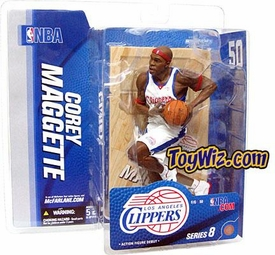 McFarlane Toys NBA Sports Picks Series 8 Action Figure Corey Maggette (Los Angeles Clippers) White Jersey variant