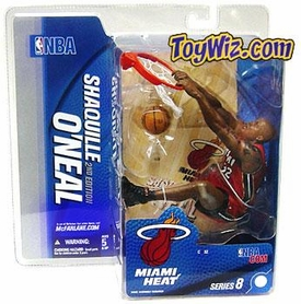 McFarlane Toys NBA Sports Picks Series 8 Action Figure Shaquille O'Neal (Miami Heat) Red Jersey