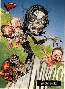 Hollywood Zombies Topps Michael Jackson Trading Card Wacko Jacko