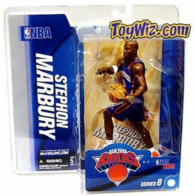 McFarlane Toys NBA Sports Picks Series 8 Action Figure Stephon Marbury (New York Knicks) Blue Jersey