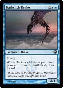 Magic the Gathering Scars of Mirrodin Single Card Uncommon #30 Darkslick Drake