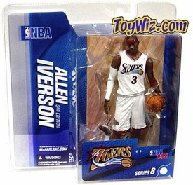 McFarlane Toys NBA Sports Picks Series 8 Action Figure Allen Iverson (Philadelphia 76ers) White Jersey