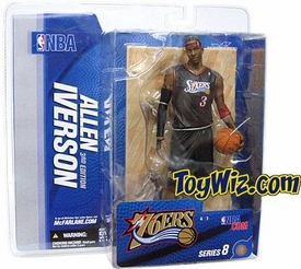 McFarlane Toys NBA Sports Picks Series 8 Action Figure Allen Iverson (Philadelphia 76ers) Black Jersey Variant