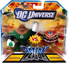 DC Universe Action League Mini Figure 2-Pack Kilowog Vs. Zilius Zox