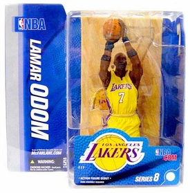 McFarlane Toys NBA Sports Picks Series 8 Action Figure Lamar Odom (Los Angeles Lakers) Yellow Jersey Variant