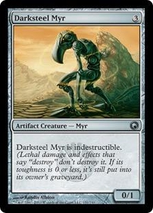 Magic the Gathering Scars of Mirrodin Single Card Uncommon #151 Darksteel Myr