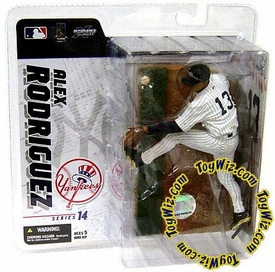 McFarlane Toys MLB Sports Picks Series 14 Exclusive Action FigureAlex Rodriguez (New York Yankees) White Jersey