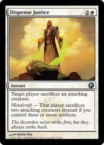 Magic the Gathering Scars of Mirrodin Single Card Uncommon #5 Dispense Justice