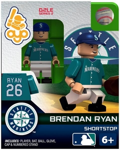 OYO Baseball MLB Generation 2 Building Brick Minifigure Brendan Ryan [Seattle Mariners]