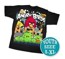 Angry Birds Youth Printed T-Shirt Angriest Attack
