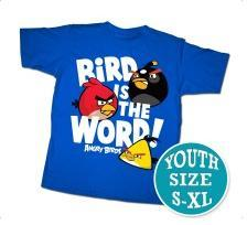 Angry Birds Youth Printed T-Shirt Bird Word BLOWOUT SALE!