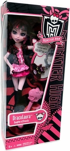 Monster High Classroom Basic Doll Draculaura with Count Fabulous Clip