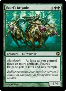 Magic the Gathering Scars of Mirrodin Single Card Rare #121 Ezuri's Brigade