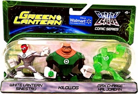 Green Lantern Action League Comic Series 3-Pack White Lantern Sinestro, Kilowog & Max Charge Hal