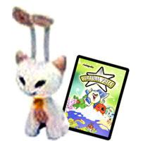 Neopets Limited Edition Plushie White Aisha [Free Virtual Prize Code Card]