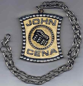WWE Wrestling Superstar Necklace John Cena Champ Spinner New!