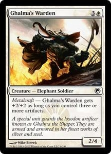 Magic the Gathering Scars of Mirrodin Single Card Common #8 Ghalma's Warden