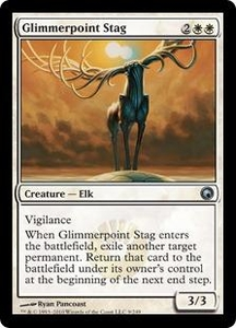 Magic the Gathering Scars of Mirrodin Single Card Uncommon #9 Glimmerpoint Stag