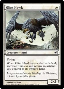 Magic the Gathering Scars of Mirrodin Single Card Common #10 Glint Hawk