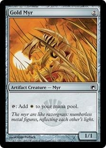 Magic the Gathering Scars of Mirrodin Single Card Common #157 Gold Myr