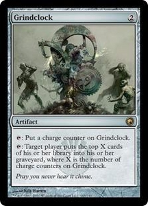 Magic the Gathering Scars of Mirrodin Single Card Rare #163 Grindclock