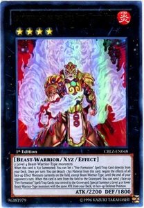 YuGiOh Zexal Cosmo Blazer Single Card Ultra Rare CBLZ-EN048 Brotherhood of the Fire Fist - Tiger King